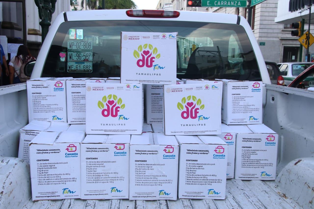 Entrega DIF Tampico Alimentos a Grupos Vulnerables