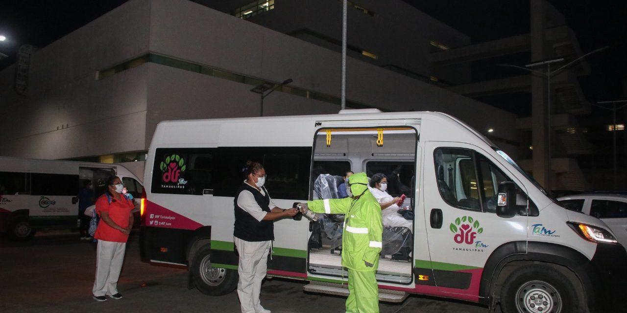 Brinda DIF Tampico Transporte Seguro  y Gratuito a Trabajadores de la Salud